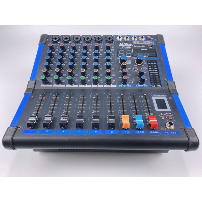 Power mixer (เพาเวอร์ มิกเซอร์) HotRock BT-600D 600 วัตต์ 6CH