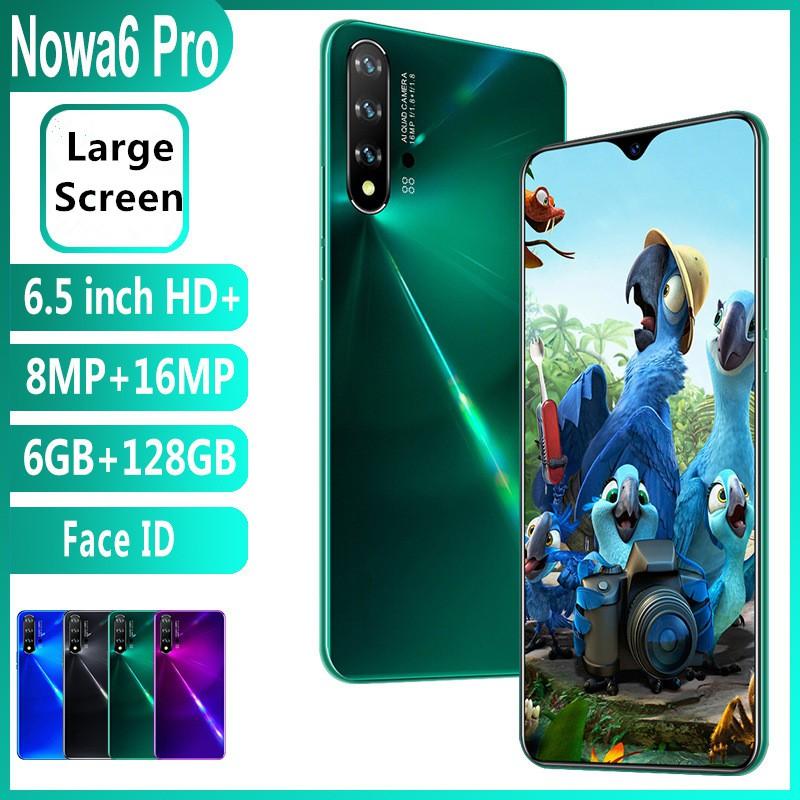 โทรศัพท์มือถือ สมาร์ทโฟน Nowa6 Pro Hd 6+128Gb Android หน้าจอ 6.5 นิ้ว มี 3 สี