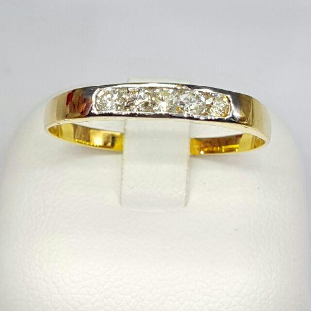 แหวนแถวเพชรแท้ทองคำแท้ราคาโรงงาน