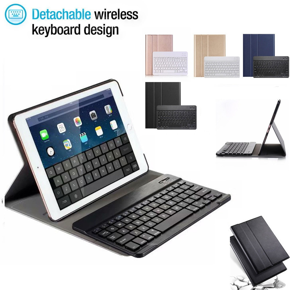 Case for iPad 10.2 Keyboard Case with Pencil Holder for Apple iPad 7 US Generation  Russian Spanish English Keyboard For