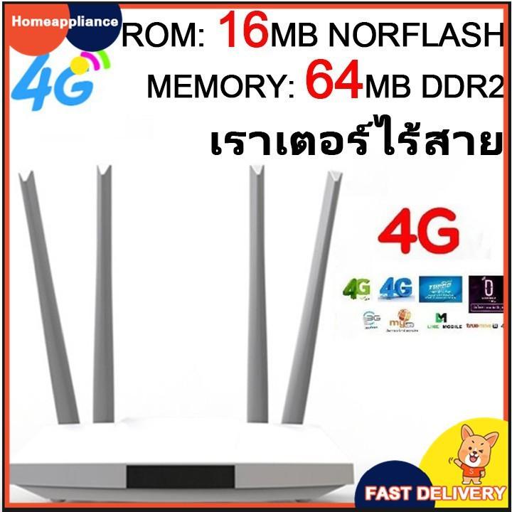 3G & 4G Router เร้าเตอร์ ใส่ซิม ปล่อย Wi-Fi/300Mbps 2 4G/รองรับ 4G ทุกเครือข่าย รองรับซิมการ์ดSIM