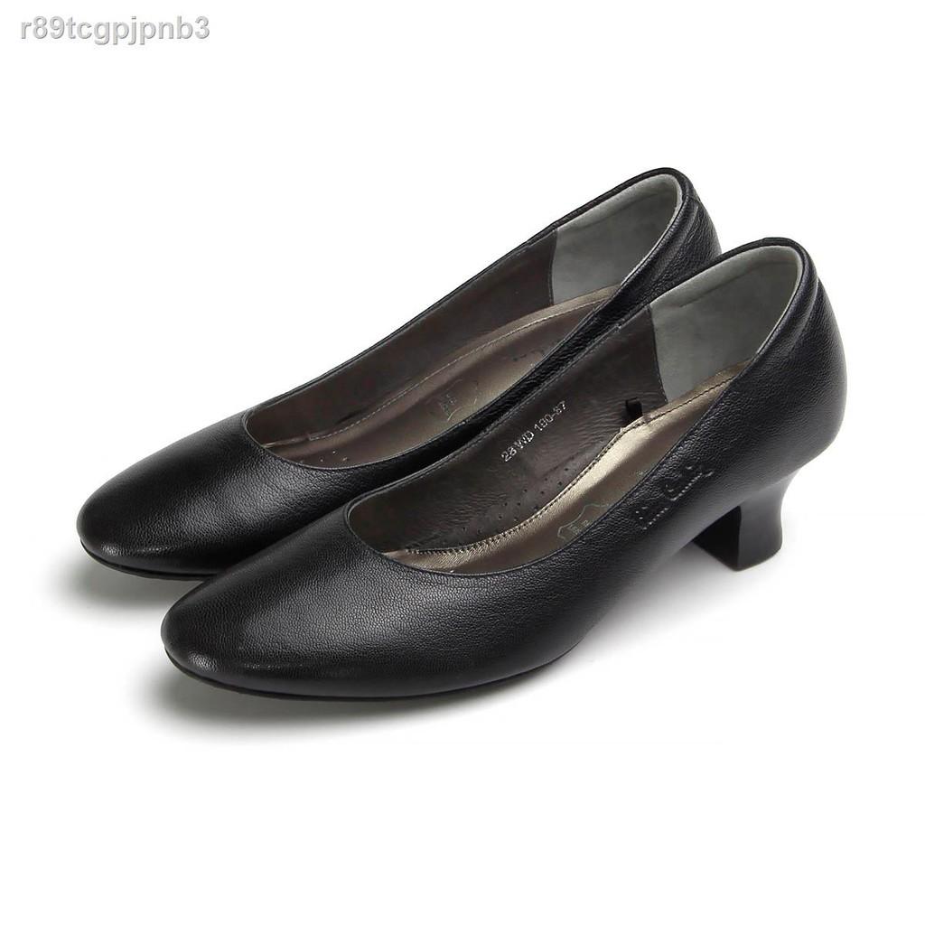แฟชั่นผู้หญิง✤รองเท้าแฟชั่น pierre cardin ปิแอร์การ์แดงรองเท้าผู้หญิงรุ่น 28WD190 รองเท้าคัชชูหนังแท้ดังจากน้ำตาล COLOR
