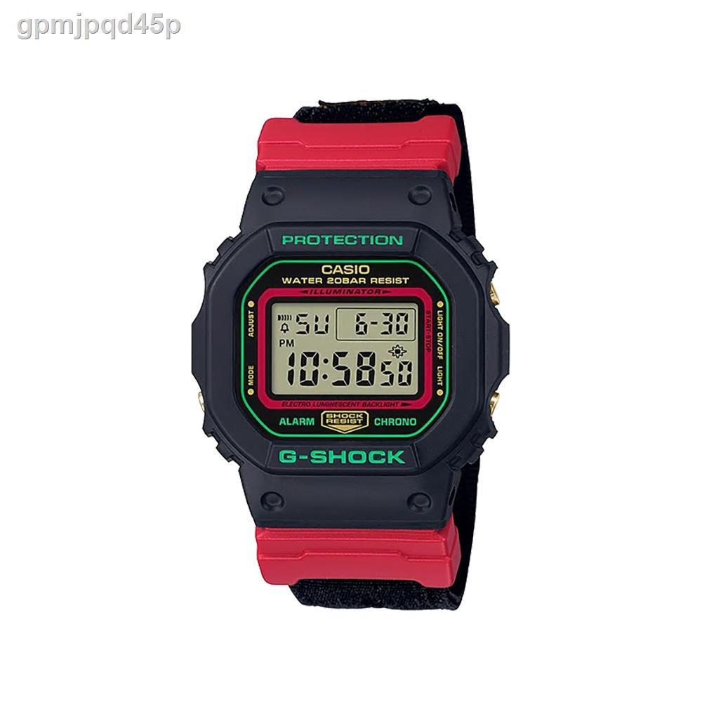 ✇◆✉[ของแท้] CASIO นาฬิกาข้อมือผู้ชาย รุ่น G-SHOCK DW-5600THC-1DR นาฬิกา นาฬิกาข้อมือ สายเรซิ่น นาฬิกาDigital