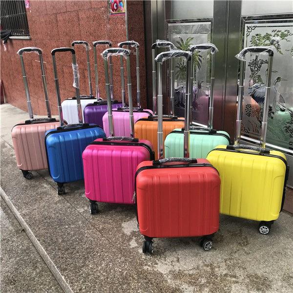 △✠กระเป๋ารถเข็นเด็กเล็ก 14 นิ้ว, กระเป๋าเดินทางใบเล็กหญิง 18 นิ้ว 16 กระเป๋าเดินทางมินิกระเป๋าเดินทางชาย