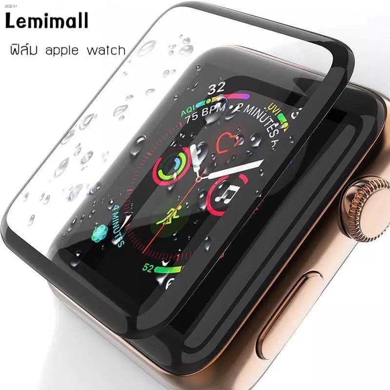 ❐ฟิล์มกระจกนิรภัย 3D ลงโค้ง ฟิล์ม สำหรับ applewatch Series 6 SE /5 4 / 3 2 1 1ฟิล์มกระพลาสติก 38MM 40MM 42MM 44MM