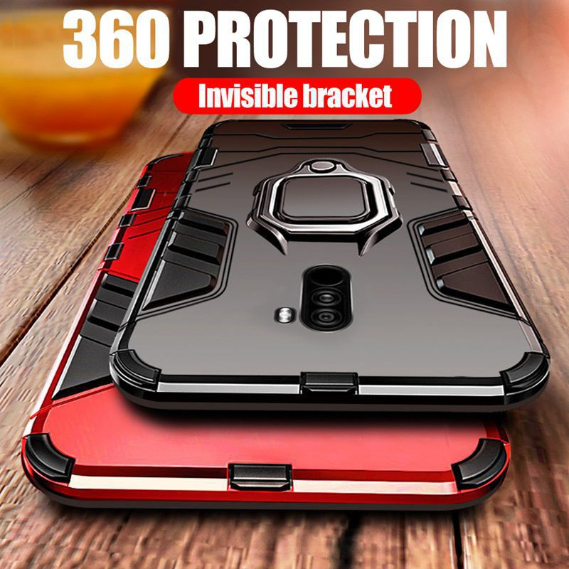 ปลอก Samsung Galaxy A7 A8 A9 J4 + J6 Plus 2018 Note 9 10 Pro A10s 20s S20 Ultra Case Car Holder Magnetic Suction Ring Br