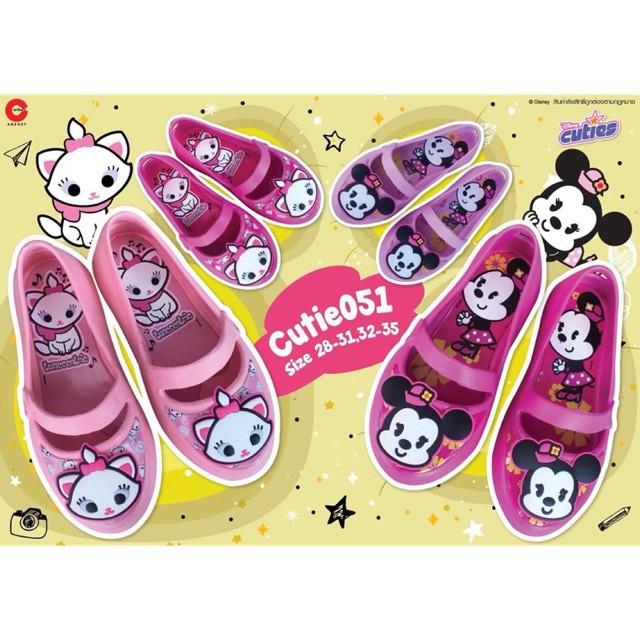 ✢✘รองเท้าคัชชู ลายคิวตี้ แมวมารี รองเท้าเด็กผู้หญิง สีชมพูสวยหวาน ใส่สบาย 🔥