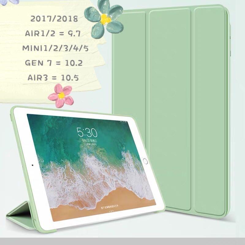 เคส iPad 10.2 gen7/gen8  เคสไอแพด por air3,10.5,เคส ipad 2 3 4 Case ipad 2017/2018ไอแพด gen5  gen6 9.7 เคส ipad air1/2三折