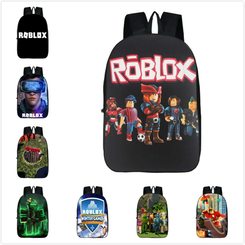 Roblox Backpack Kids School Bag Students Boys Bookbag Handbags Travelbag Game