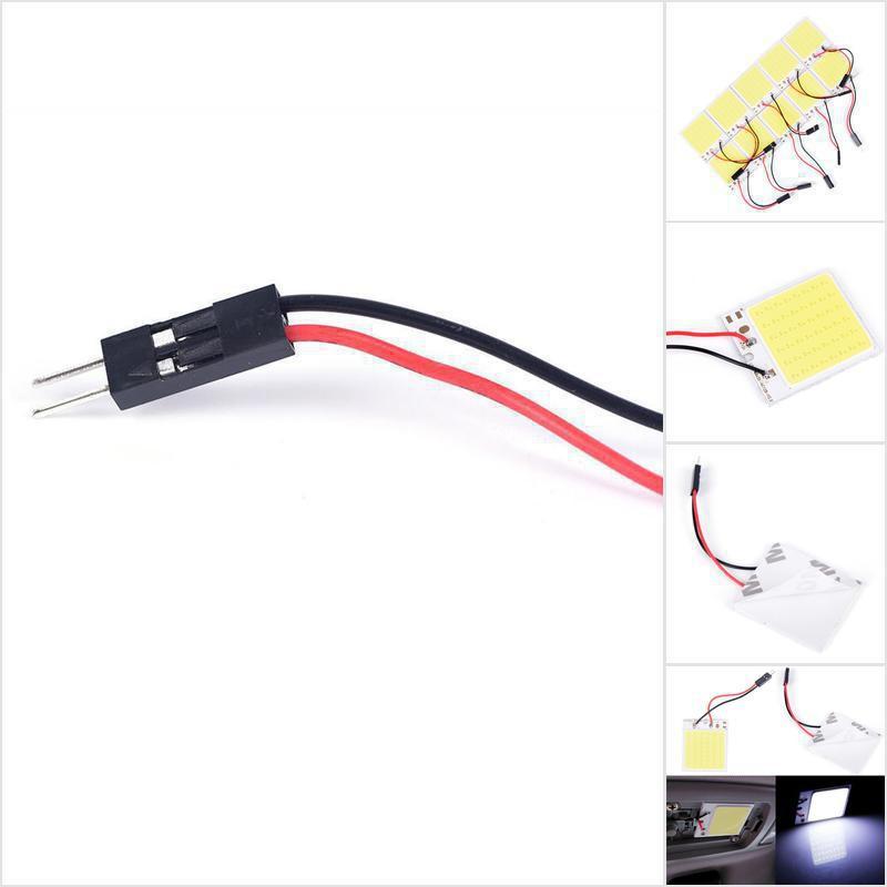 แผงหลอดไฟภายในรถยนต์ 48 Smd Cob Led T 10 4 W 12v