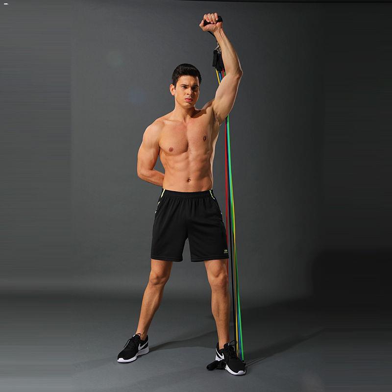 ♈☍ชุด 11 ชิ้นเชือกที่แข็งแรงครอบคลุมการฝึกขยายหน้าอก ยางยืดวงต้านทานการออกกำลังกายที่บ้านอุปกรณ์ฟิตเนสและออกกำลังกาย