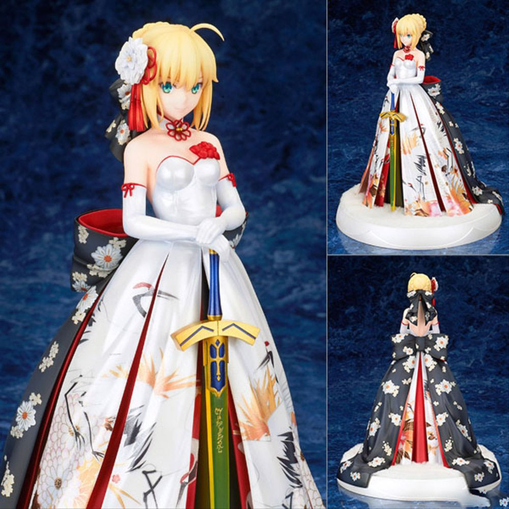 Figure ฟิกเกอร์ Model โมเดล FGO saber kimono dress crane suit seba quality version boxed Garage Kit model