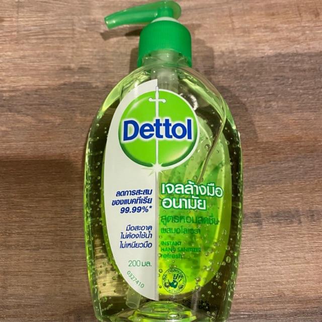 Dettol hand sanitizer 200ml. เจลล้างมือเดทตอล