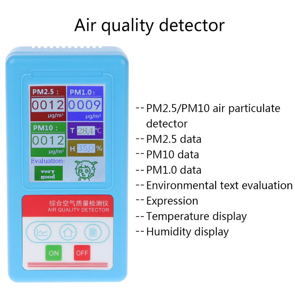 PM1 0 PM 2 5 PM10 Gas Analyzer 9 Kinds Particles Detector Air Quality  Monitor