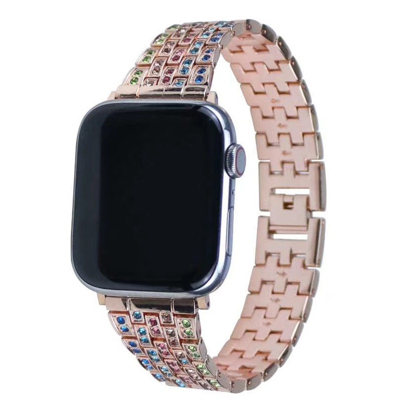 Luxury สาย Apple Watch Straps Diamonds Bling Applewatch Series 6 5 4 3, สายนาฬิกา Apple Watch SE Stainless Steel for apple watch iWatch Series5,Series4 ,Series3,Watch band iwatch size 38mm 40mm 42mm 44mm