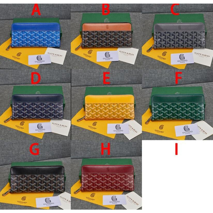 №❶2021 new top Goyard  with genuine leather cowhide long zipper wallet, handbag, multi-compartment wallet, fashionable m