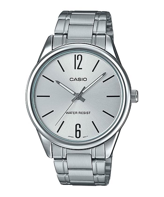 Casio standard นาฬิกาข้อมือผู้ชาย รุ่น MTP-V005D สายสแตนเลส MTP-V005D-7BUDF R8qj