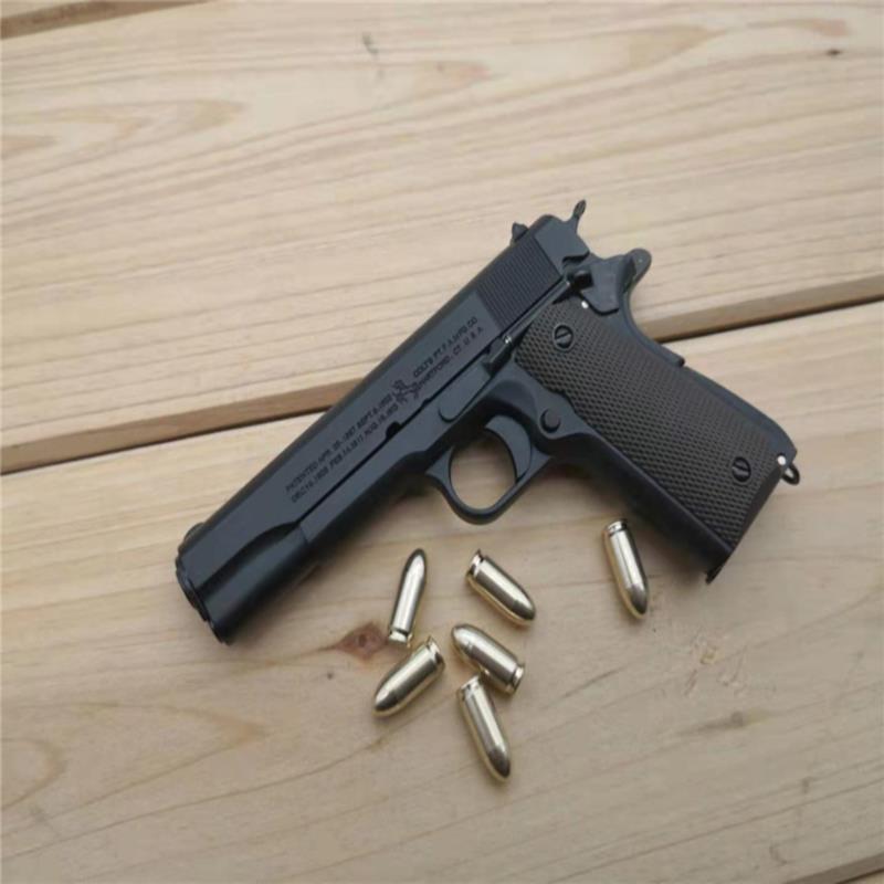 ❄۞❐1:2.05 อัลลอยเอ็มไพร์ M1911 Colt จำลองปืนพกรุ่นไม่สามารถยิงโลหะทั้งหมดที่ถอดออกได้