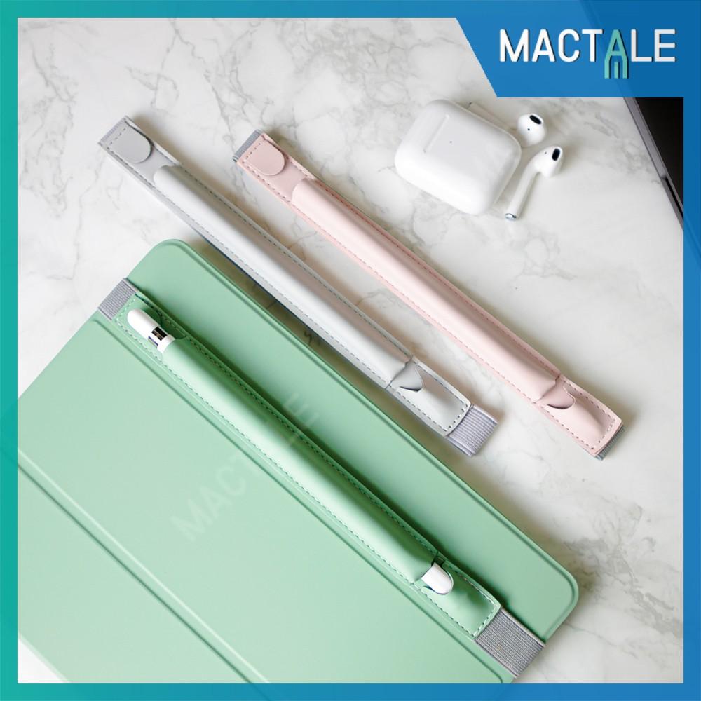 Mactale ซองปากกาหนัง สายรัดเคส เก็บปากกา Apple pencil 1, 2 case Stylus เคสปากกา อะแดปเตอร์ ปลอกปากกา หนัง PU สไตลัส