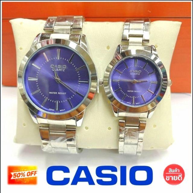 นาฬิกาข้อมือ Casio รุ่นยอดนิยม หน้าปัดกันรอย สายสแตนเลส