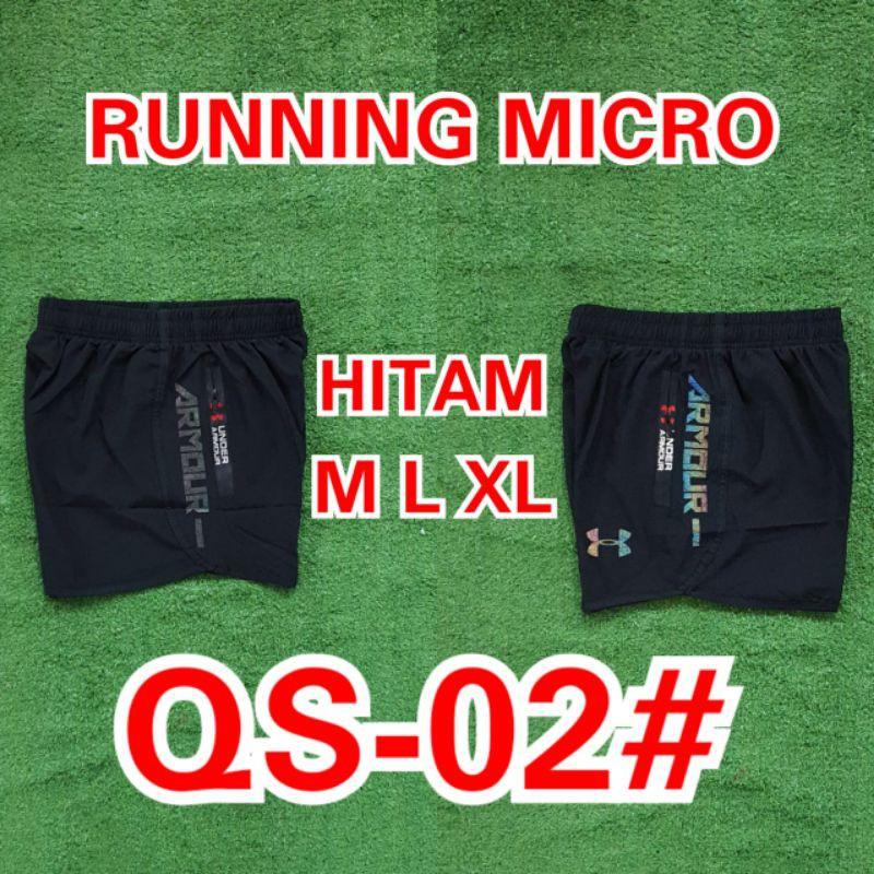 กางเกงวิ่งขาสั้นไมโคร Ua Qs-04cro Ua Qs-02