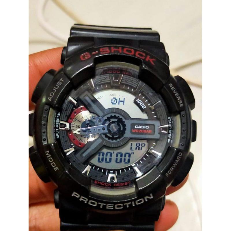 ขายนาฬิกาคาซิโอ จีช็อค CASIO G-SHOCK GA- 110 ของแท้มือสอง สภาพสวย85