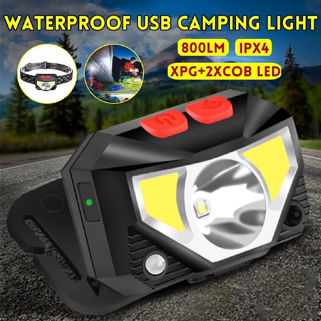 US 5w LED Waterproof Headlamp Flashlight Camping Headlight Red /& White Light