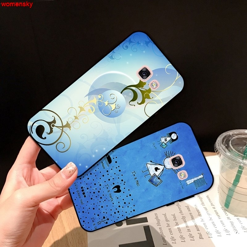 Samsung A3 A5 A6 A7 A8 A9 Pro Star Plus 2015 2016 2017 2018 Painted pattern-2 Silicon Case Cover