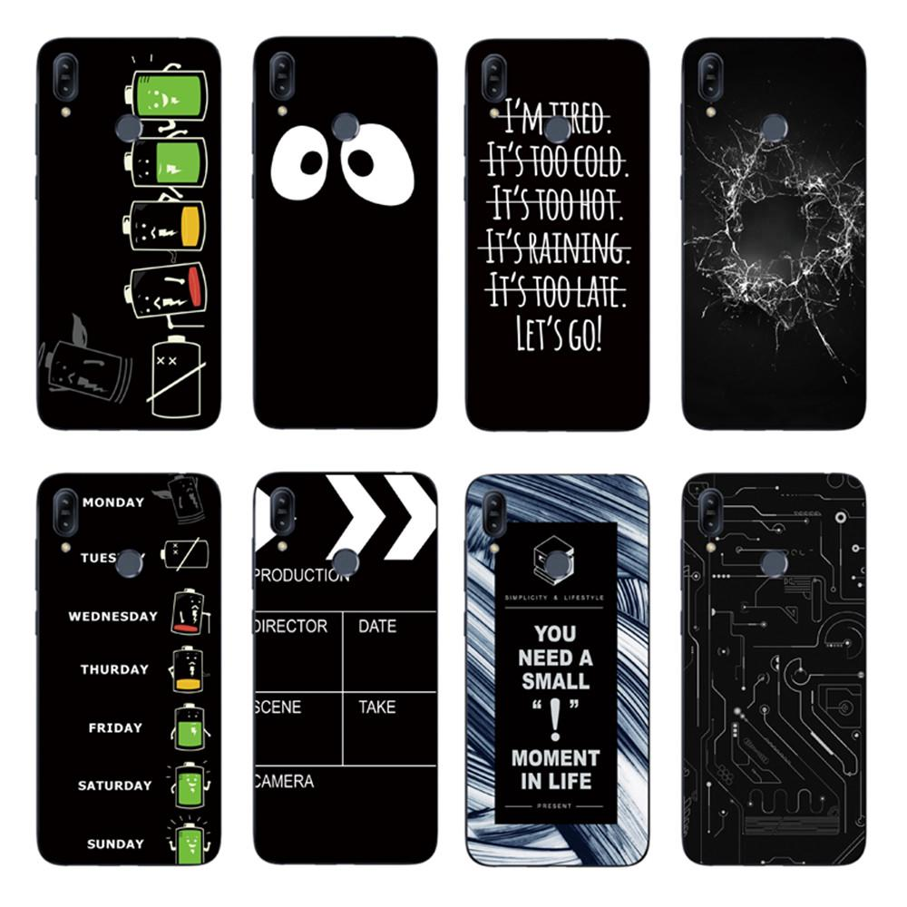 Review Cartoon Big Eyes Back Cover Asus Zenfone Max Pro M2 ZB631KL / ZB633KL Soft TPU Case