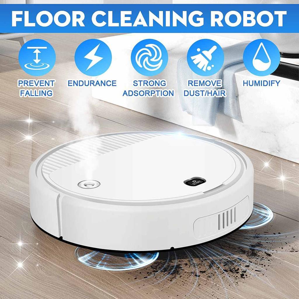 SUSU หุ่นยนต์ดูดฝุ่น ใหม่ES08 เครื่องดูดฝุ่นอัจฉริยะ Robot Vacuum รับประกันศูนย์ 2 ปีเต็ม ทำความสะอาดพื้นที่ขนาดให