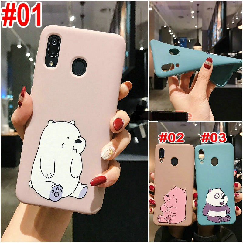 เคส Samsung M11 A11 A71 A51 A70 A50 A30 A20 A10 A50s A30s A9 A7 A6 J8 J7 J6 J5 J4 J2 Plus Pro Prime 2018 Cartoon Sit up Bear Soft case
