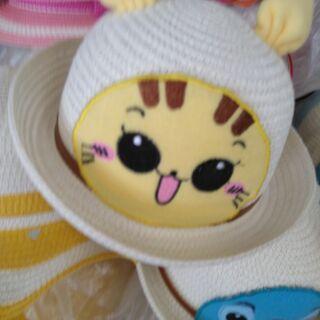 (เก็บปลายทาง)หมวกฟางปิกาจูสำหรับเด็กcute+7 def+4