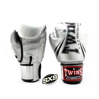 Twins Special Boxing Gloves FBGVS3-TW6 SILVER BLACK