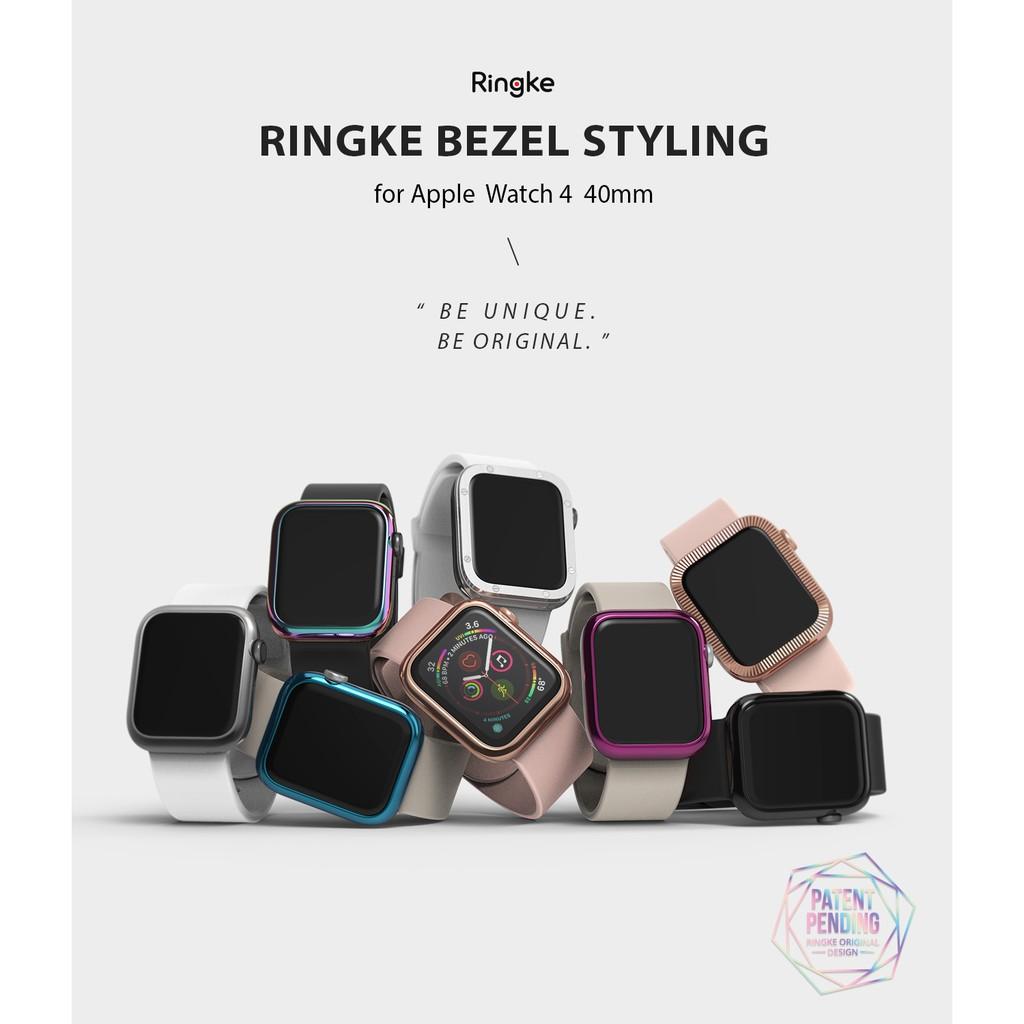Ringke Bezel Styling, Apple Watch 6 5 4 SE 40mm [Bezel Styling] Ringke Case Cover Stainless Steel Frame Accessory xpju
