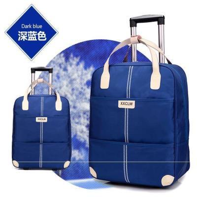 กระเป๋าเดินทางคล้องมือ☁□℗. เสื้อผ้าแฟชั่น น้ำหนักเบา รถเข็นกระเป๋าใบเล็กสำหรับสุภาพสตรี Travel Short-distance Mini Trend