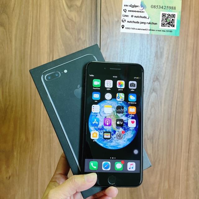 มือถือมือสองiphone 7plus 128g สีดำเงา อุปกรณ์ครบกล่อง