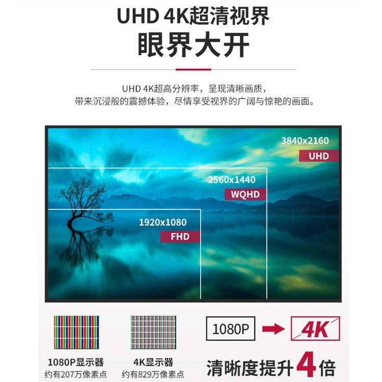 LGของแท้อย่างเป็นทางการ27นิ้วIPSสกรีน4KจอแสดงผลHDRซุปเปอร์ชัดเจนPS4จอคอมพิวเตอร์