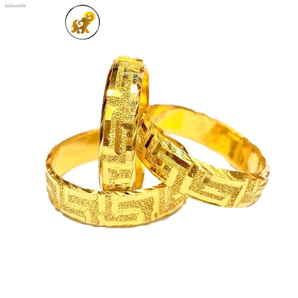 ราคาต่ำสุด❃㍿Flash Sale แหวนทองครึ่งสลึง รวยวนปายย!! หนัก 1.9 กรัม ทองคำแท้ 96.5% มีใบรับประกัน