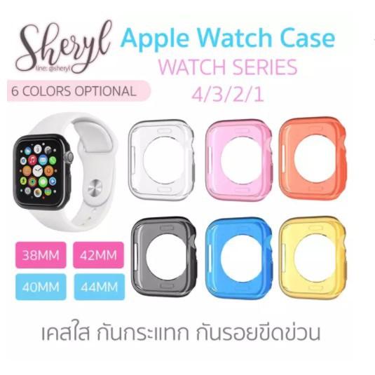 เคส applewatch Apple Watch Case เคสนาฬิกาใส 6 สี Apple Watch Series 4/3/2/1
