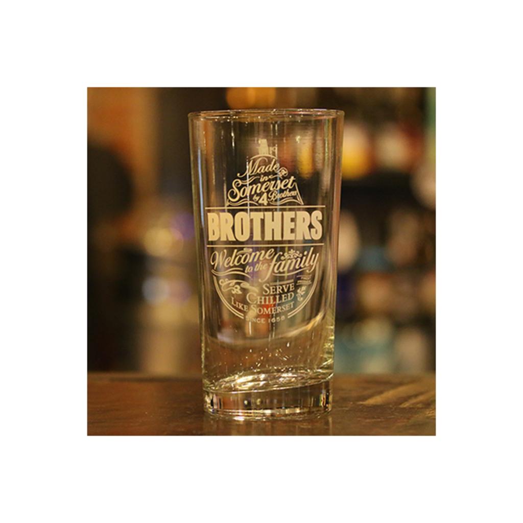 แก้ว Brothers Cider 500ml Glass