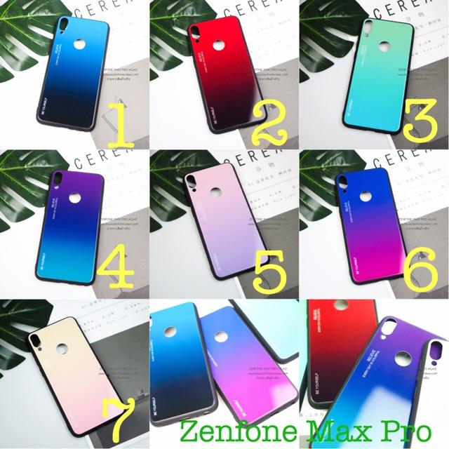 เคสกระจกเงา Zenfone Max Pro m1 (ZB602KL),m2 (ZB631KL) Glass Black Cover Case
