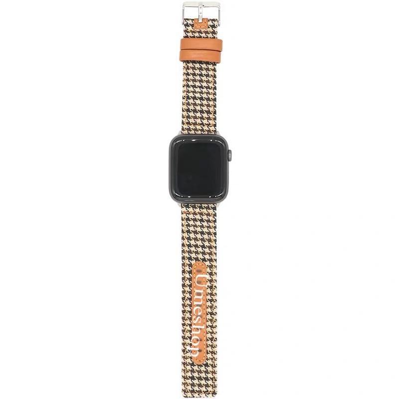 ✅🌼🔥◕สาย สำหรับ AppleWatch series 1/2/3/4/5/6 SE  38/40/42/44mm W55 /W56 X6 pro Max p90 watch 5 สายหนัง+ผ้า