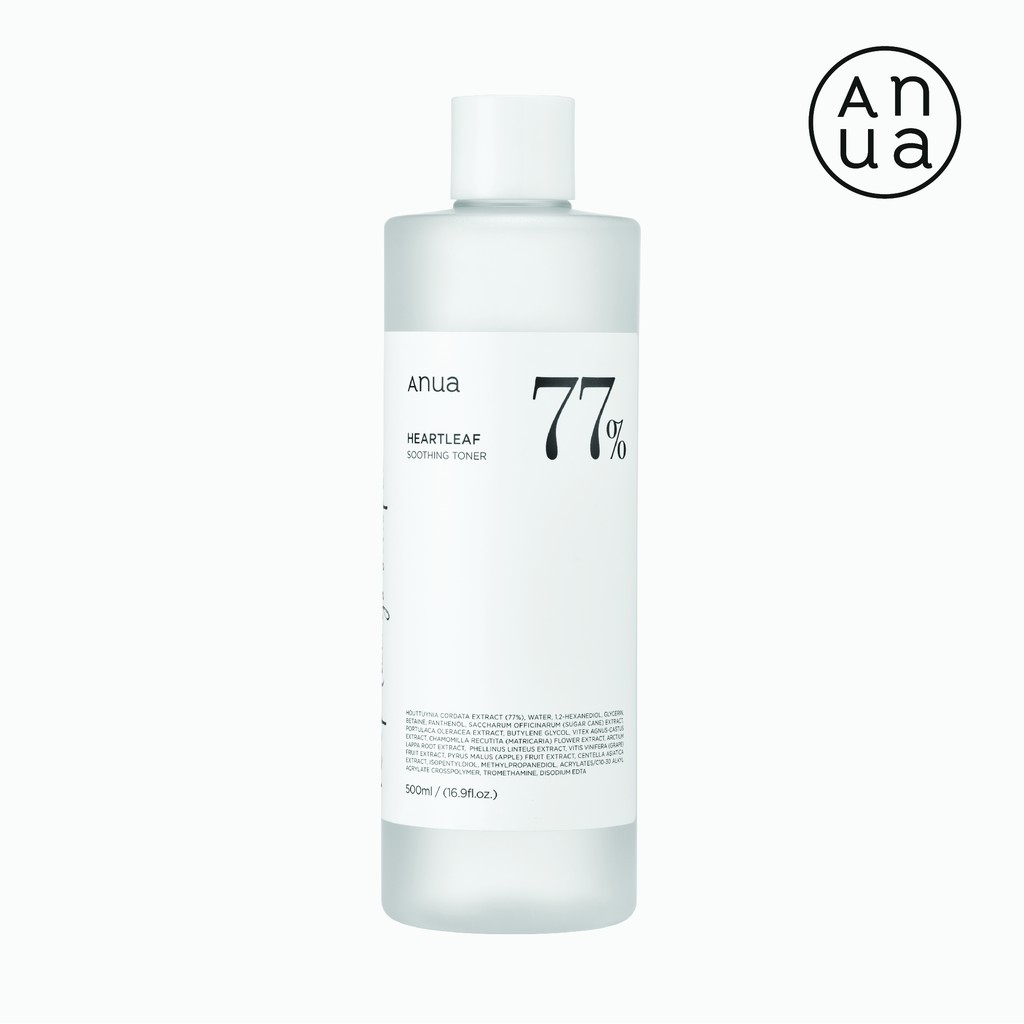 ✽ANUA : HEARTLEAF 77% SOOTHING TONER 500ml