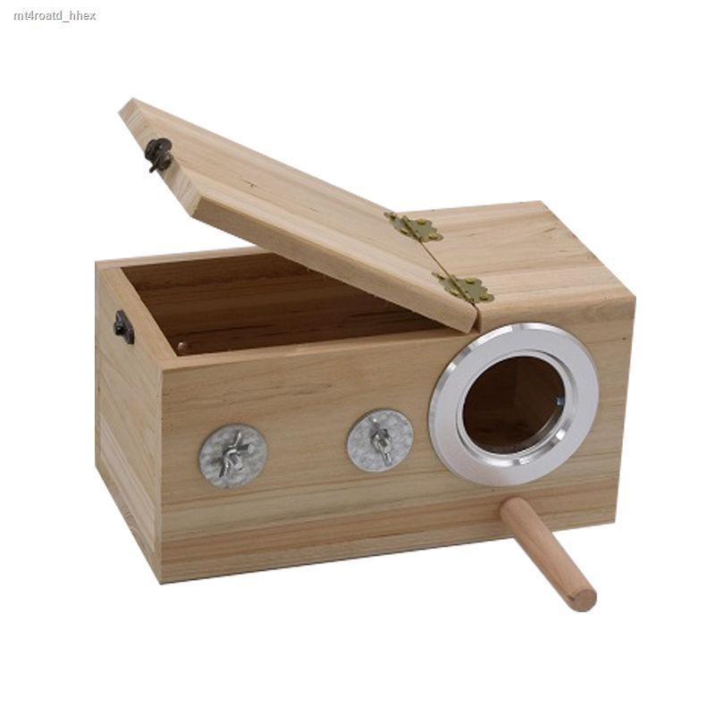 ราคาถูก❏✸> กล่องเพาะพันธุ์นกแก้วรังนกกล่องรังอุ่นผิวเสือ Xuanfeng Peony ศูนย์บ่มเพาะนกอุปกรณ์เสริมสำหรับกรงนก