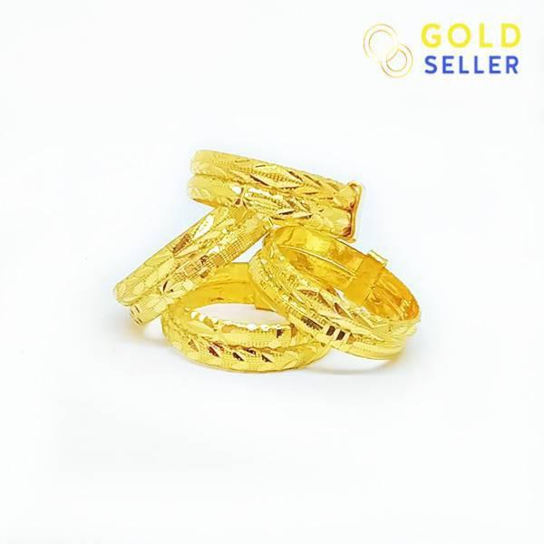 ราคาไม่แพงมาก☎♗Goldseller แหวนทองแท้ ลายแหวนคู่ แกะลาย ครึ่งสลึง คละลาย ทองคำแท้ 96.5 %
