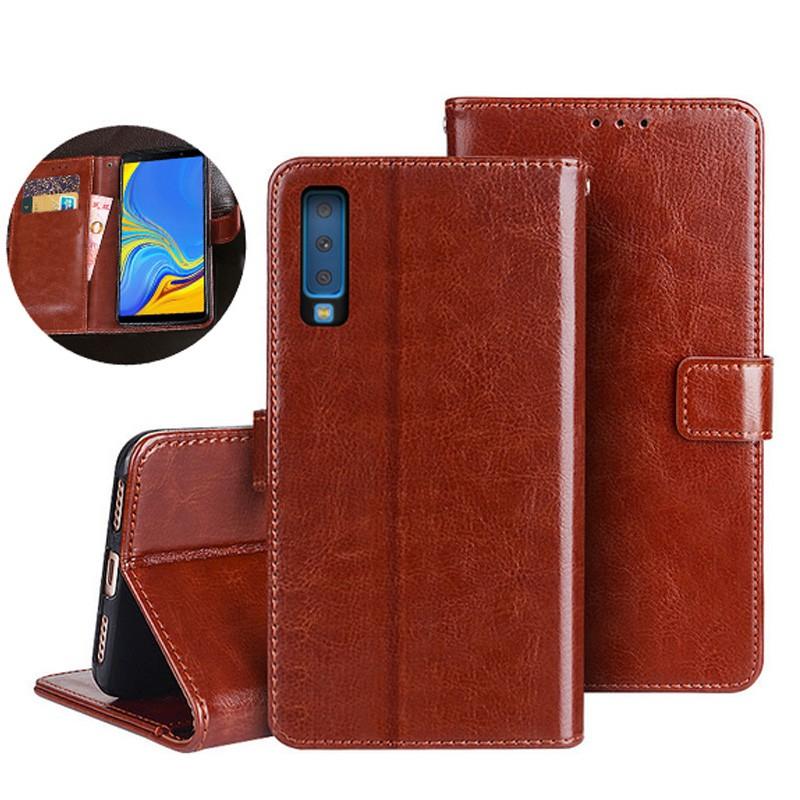 เคส case Samsung Galaxy A6 A8 Plus J2 Pro J3 J4 J6 J7 A9 2018 เคสโทรศัพท์หนังฝาพับพร้อมช่องใส่บัตรสํา Flip Leather phone Case