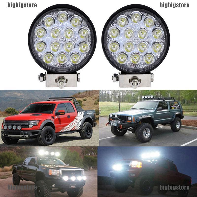 "4/""  Row 60W 20LED Work Lights Bar Driving Fog Flood Spot for Truck ATV FO"