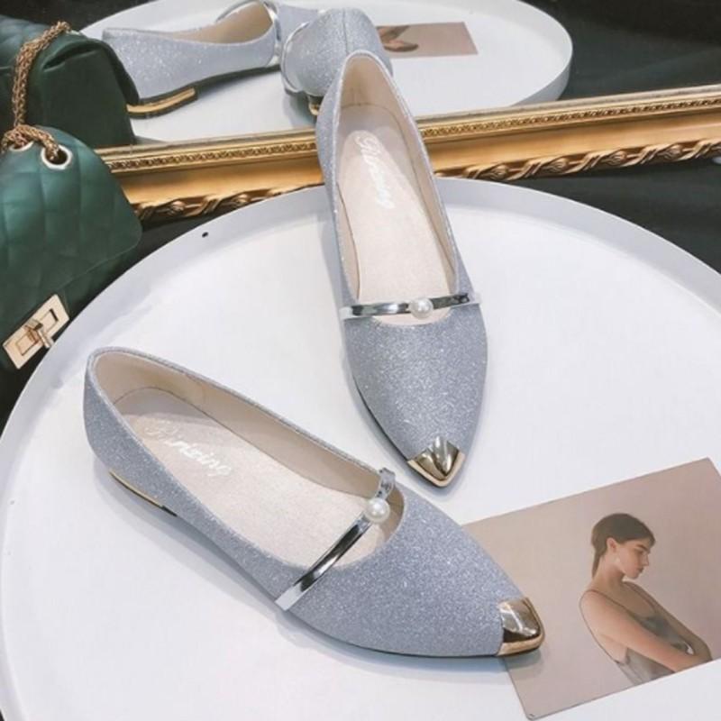 ❤รองเท้าแฟชั่นผู้หญิง❤รองเท้าส้นสูงผู้หญิงรองเท้าส้นสูงแฟชั่น▧Darane รองเท้าคัชชู ใส่ทำงาน รุ่นนุ่มสบาย (กริตเตอร์) ตัวใ