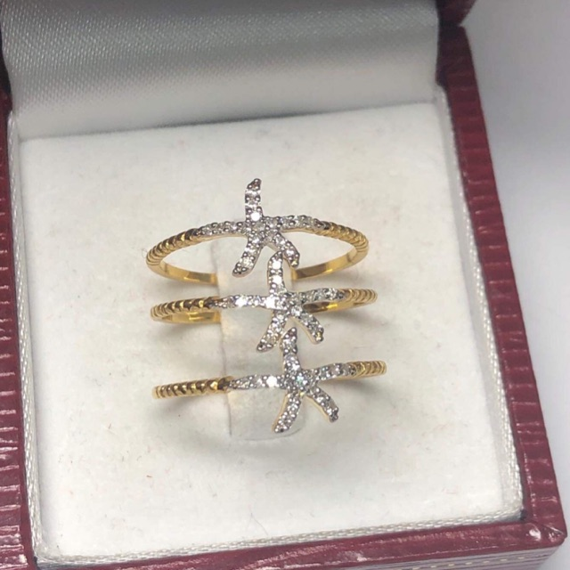 แหวนสวยๆทองคำแท้เพชรแท้ราคาโรงงาน