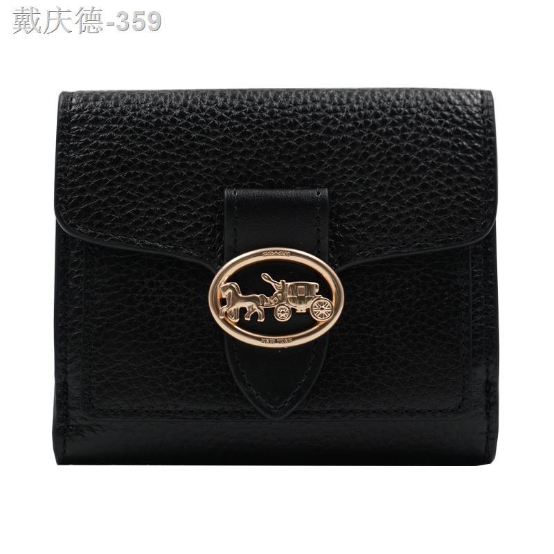 COACH/Coach กระเป๋าสตางค์ใบสั้นผู้หญิงโลโก้ 6654